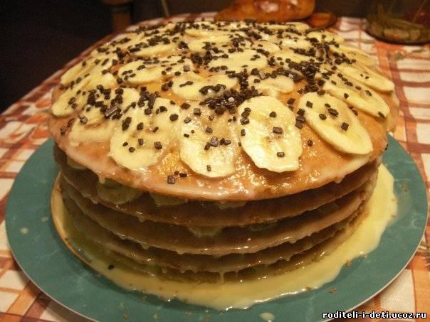 простой банановый торт фото