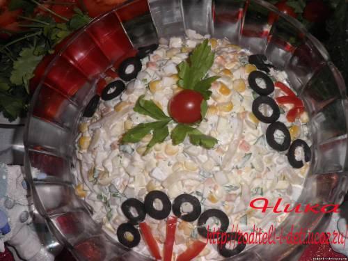 салат с кальмарами, салат кальмары с яблоками, салаты из кальмаров