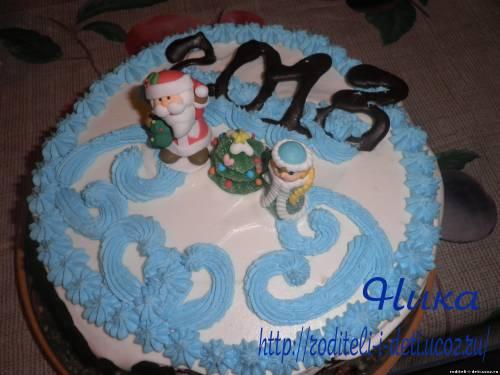 торт с зефиром, торт с клубникой, рецепты новогодних тортов