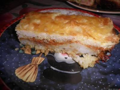 запеканка рыбная с рисом