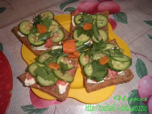 бутерброды, закуски, бутерброды с семгой