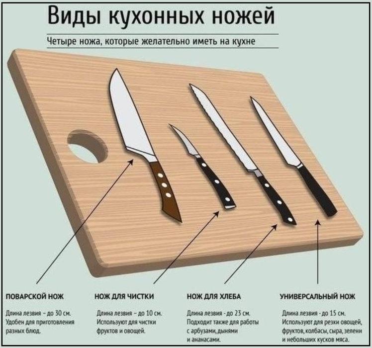 всего виды кухонных ножей и их назначения выборе размера